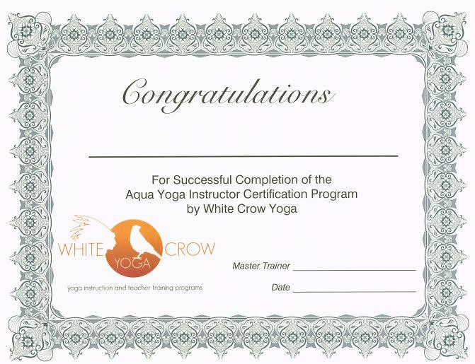 Aqua Yoga Online Instructor Training White Crow Yoga